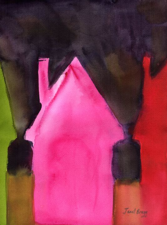 Colorful Houses at Night (Janel Bragg)