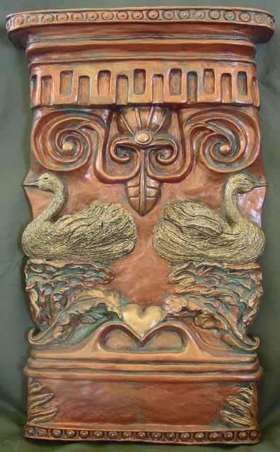 Pedestal Copper - Sculpture,  11x18 in ©2002 by Janet Goertz -