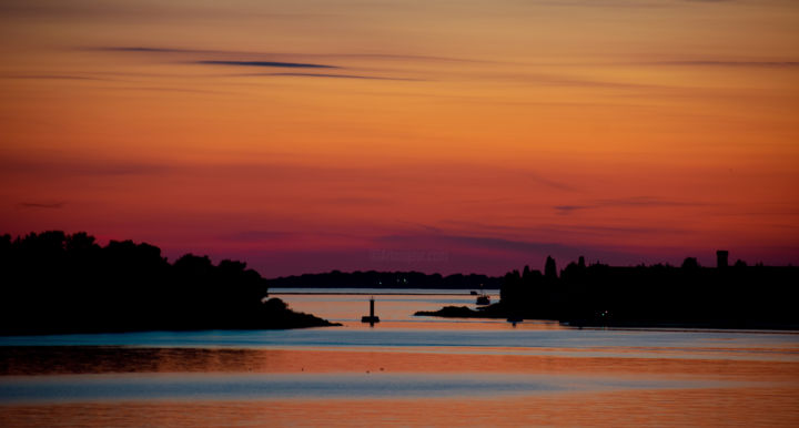 """Photography titled """"Sunset over Pula"""" by Jan Hrad, Original Art, Digital Photography"""