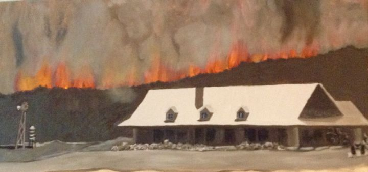 Wildfire in Texas - © 2011 wildfire, Texas, ranch Online Artworks