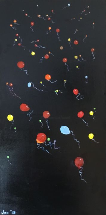 """Painting titled """"Celebration!"""" by Jan Wall, Original Art, Oil"""