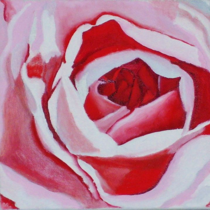"""Painting titled """"Rose"""" by Jan Wall, Original Art, Oil"""