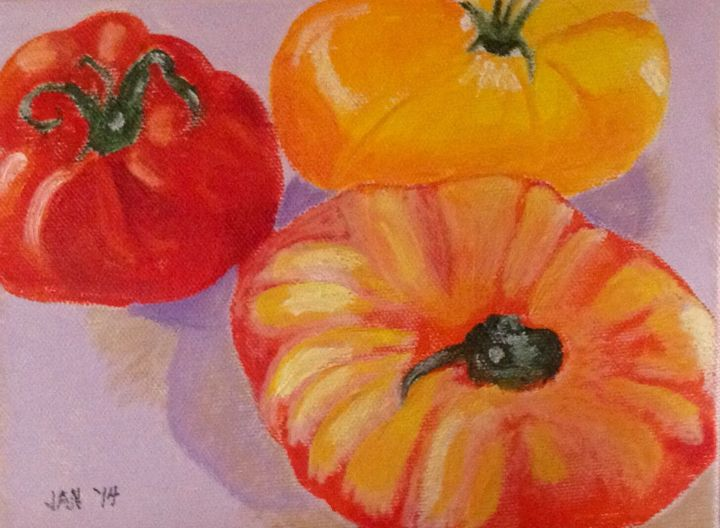 Three Tomatoes - © 2014 tomatoes, Heirloom Online Artworks