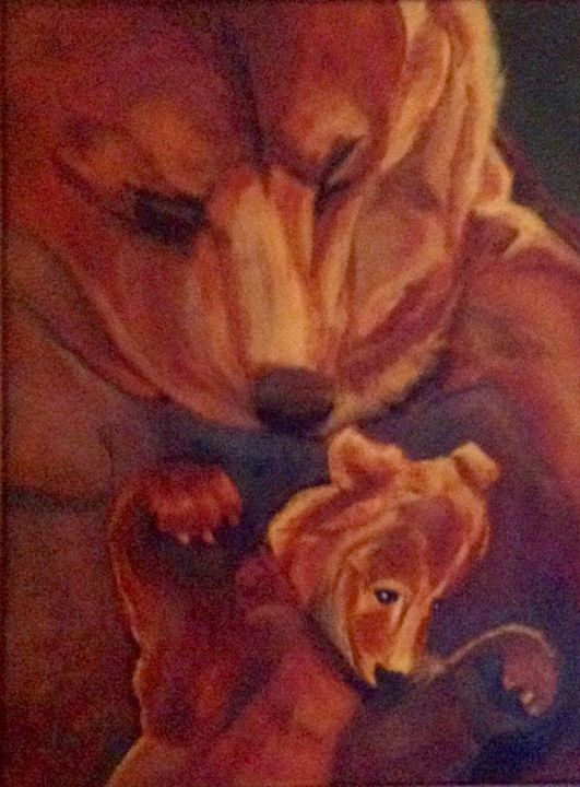 The Bears - © 2017 bears, mother, cub Online Artworks