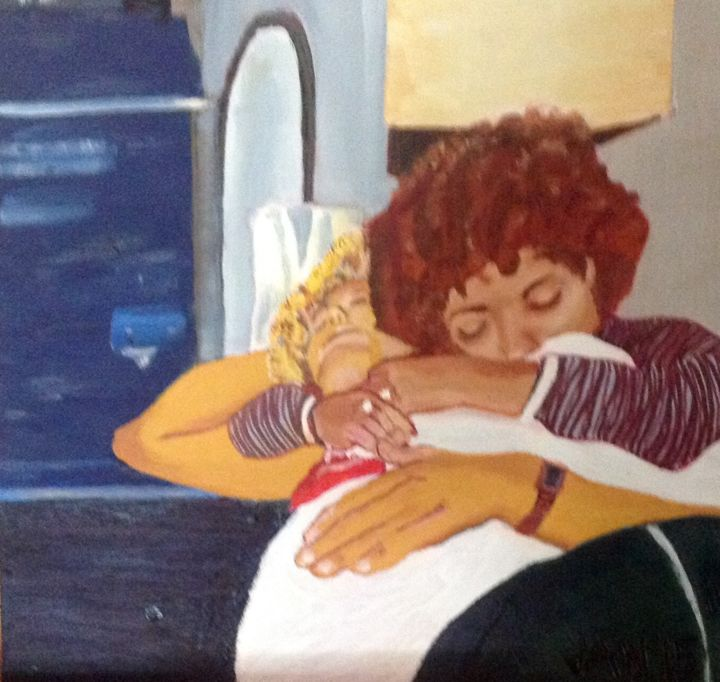 """Painting titled """"Chris and Deedee"""" by Jan Wall, Original Art, Oil"""