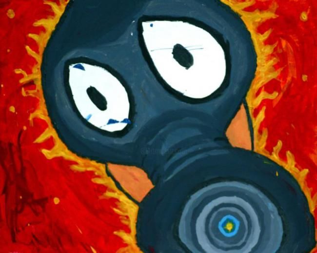 """Painting titled """"War is heck"""" by Jared Swart, Original Art, Oil"""