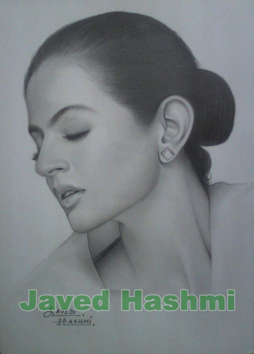 Amisha patel pencil drawing famous indian celebrity pencil drawing painting 12x8 cm