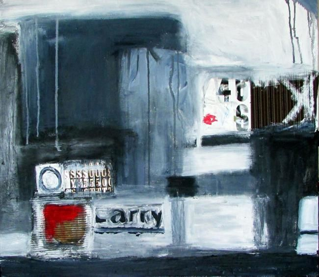 """Painting titled """"Ode to Larry"""" by Justin Brennan, Original Art,"""