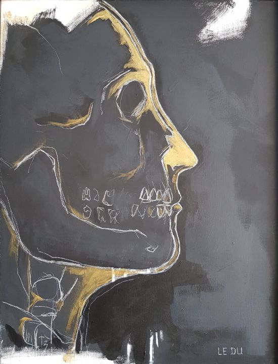 Radiographie - Painting,  18.1x13 in, ©2020 by Jean Christophe Le Du -