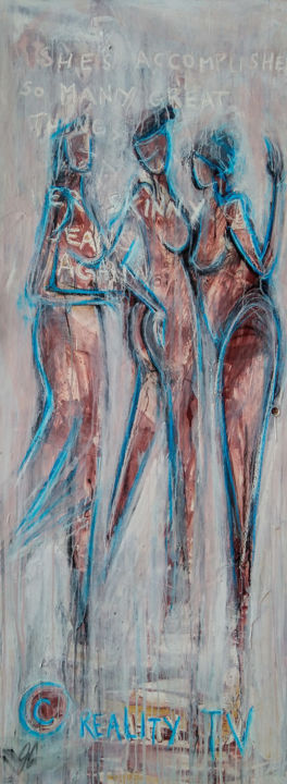 """Painting titled """"SKINNY JEANS"""" by J.Charboneau, Original Art, Acrylic"""