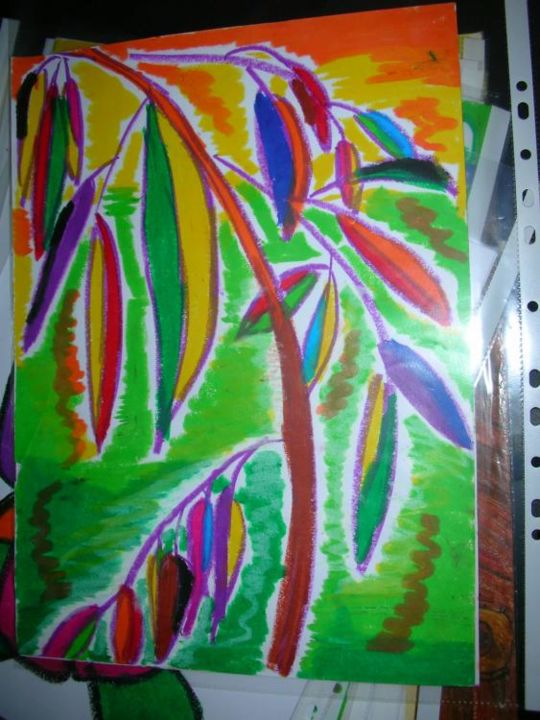 """Painting titled """"Bamboos in the wind"""" by Joyce Chua, Original Art,"""