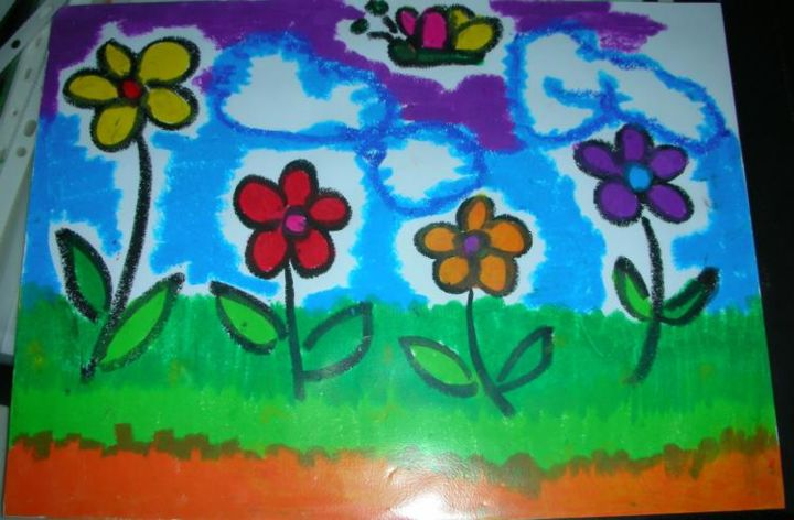 """Painting titled """"Happy Butterfly"""" by Joyce Chua, Original Art,"""