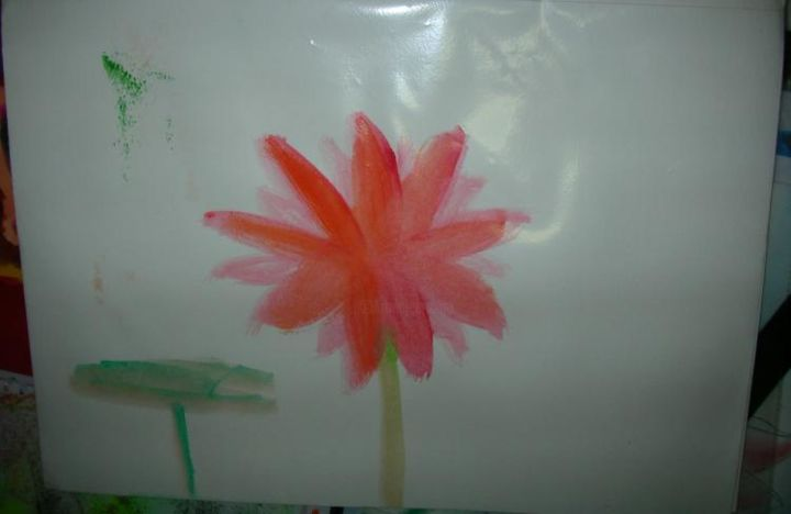 """Painting titled """"The red lotus"""" by Joyce Chua, Original Art,"""