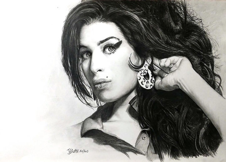 Amy Winehouse Drawing By Jerome Artmajeur