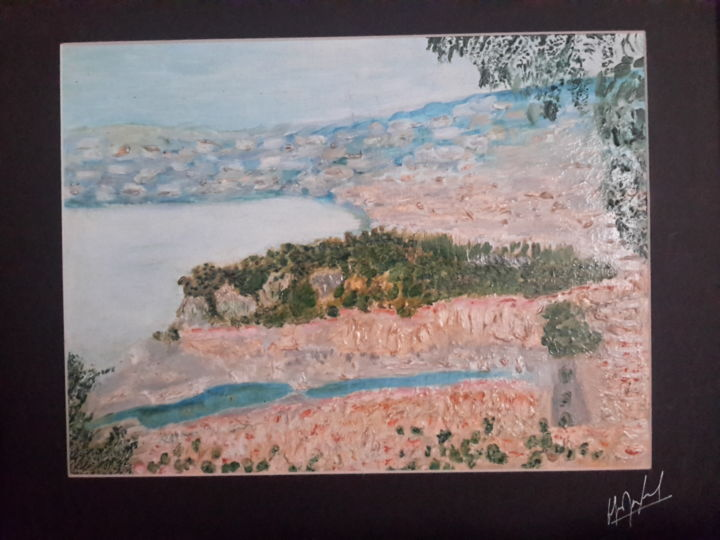 """Painting titled """"NICE, vue du Mont B…"""" by Jean-Jacques Gastaud, Original Art, Oil Mounted on Cardboard"""