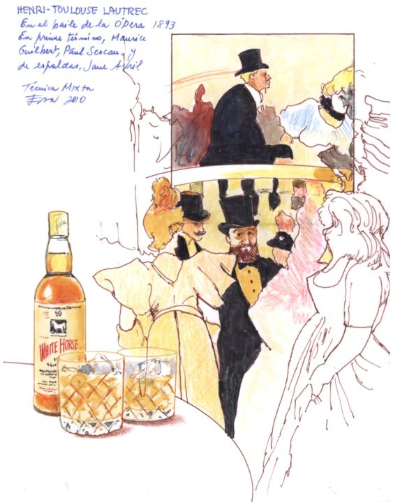 Toulouse En El Baile De La Opera Jane Avril Jpg Drawing By Jeannot Artmajeur
