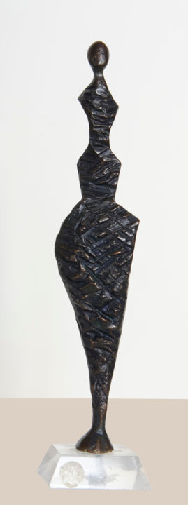 Essence (bronze) - Sculpture,  8.7x2x1.2 in, ©2012 by JL LACROIX -                                                                                                                                                                                                                                                                                                                                                                                                                                                                                                                                                                                                                                                                                      Abstract, abstract-570, Bronze, Love / Romance, Women, femme, bronze, symbolisme, abstrait, french sculpture, french artist, symbolic, artiste français, nu