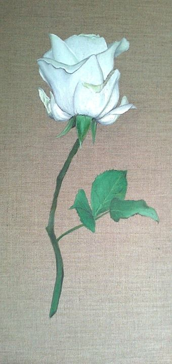 Rose avalanche - Painting, ©2017 by J-M PEN -                                                                                                                                                                                                                          Figurative, figurative-594, Flower, Nature morte. Rose