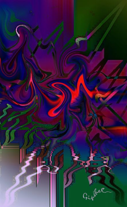 Four in one (Quatre en un) - Digital Arts, ©2020 by Gipéhel -                                                                                                                                                                                                                                                                      Abstract, abstract-570, Music, Jazz, Thelonious Monk