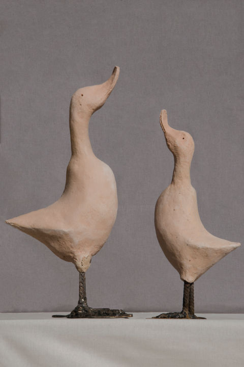 LES CANARDS.jpg - Sculpture, ©2018 by Jean-Pierre Froger -
