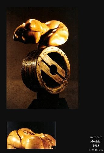 Acrobate - Sculpture,  15.8 in ©1998 by Jean-Charles Ferrand -            femme poulie