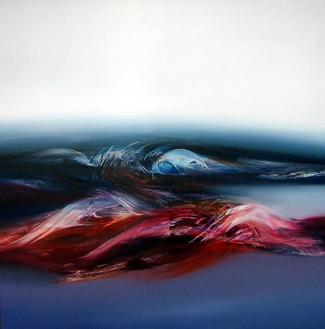 MOUVANCE MARINE - Painting,  80x80 cm ©2012 by Jean Claude Barthel -                            Abstract Art, Huile/toile  -  abstraction lyrique