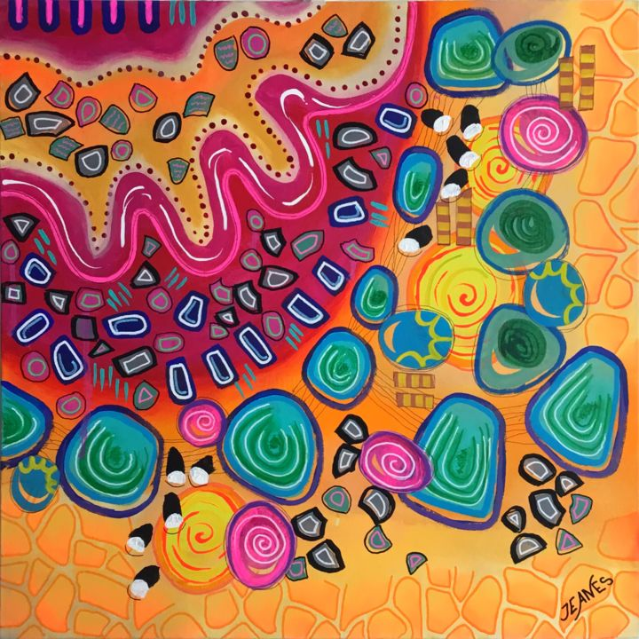 """Painting titled """"HOLI DAY"""" by Jeanes, Original Art,"""