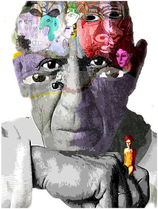 PICASSO - Digital Arts, ©2016 by Jean Mirre -                                                                                                                                                                          Expressionism, expressionism-591, Celebrity