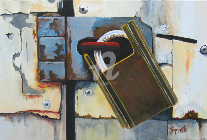 """Painting titled """"Security"""" by Jeannette Marlow, Original Art, Acrylic"""