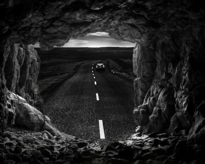 """Digital Arts titled """"On the Road Again"""" by Jeff Griffiths, Original Art, Photo Montage"""