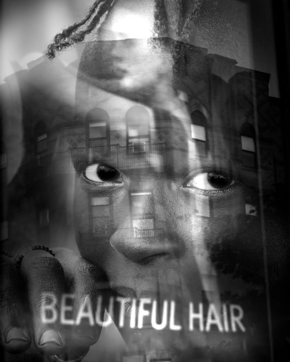 """Digital Arts titled """"Beautiful Hair"""" by Jeff Griffiths, Original Art, Photo Montage"""