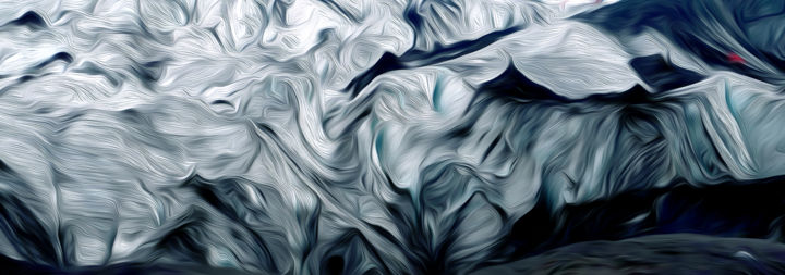 Ice - Digital Arts, ©2019 by Jeff -                                                                                                                                                                                                                                                                                                                                                                                                                                                      Abstract, abstract-570, Water, eau, glacier, iceberg, abstraction, neige, antarctique