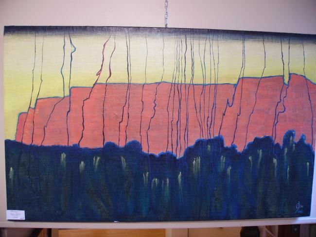 falaise - Painting,  115x50 cm ©2008 by JENS -