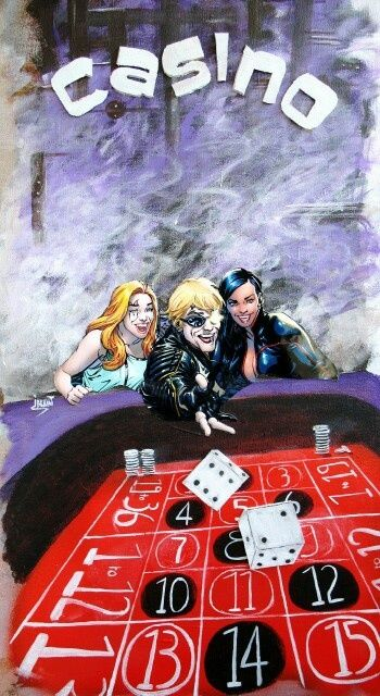 Casino - Painting,  60x40 cm ©2011 by Jerome Brillat -