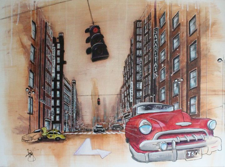 Putain de feu rouge - ©  New York, Voiture Online Artworks