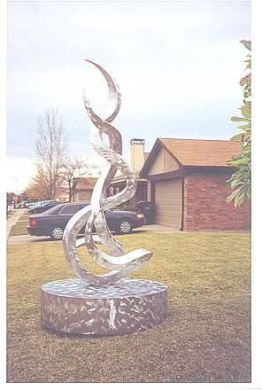"""Sculpture titled """"Intertwined III"""" by Jerry Sanders, Original Art,"""