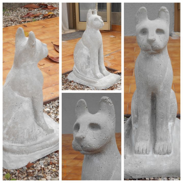CAT CEMENT - Sculpture ©2019 by Jessica Losasso -