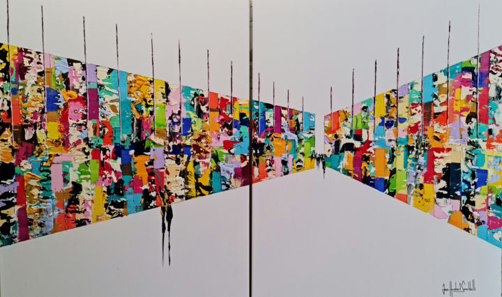 Color Painting, acrylic, abstract, artwork by Jean-Humbert Savoldelli