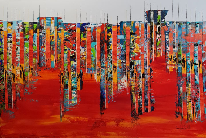 """Painting titled """"WAITING FOR VALENTI…"""" by Jean-Humbert Savoldelli, Original Art, Acrylic Mounted on Stretcher frame"""