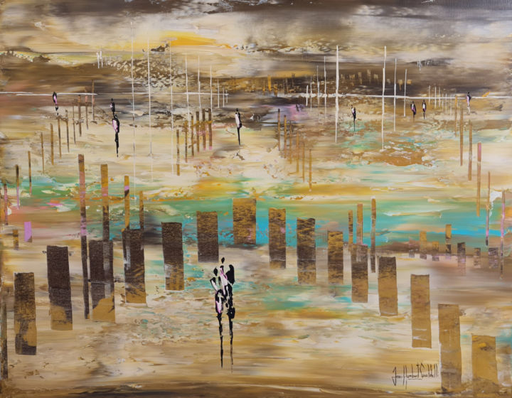 """Painting titled """"SO LONG"""" by Jean-Humbert Savoldelli, Original Art, Acrylic Mounted on Stretcher frame"""