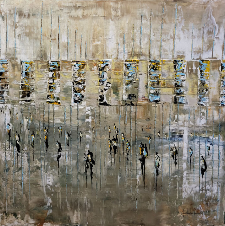 """Painting titled """"AN OTHER RAINY DAY"""" by Jean-Humbert Savoldelli, Original Art, Acrylic"""