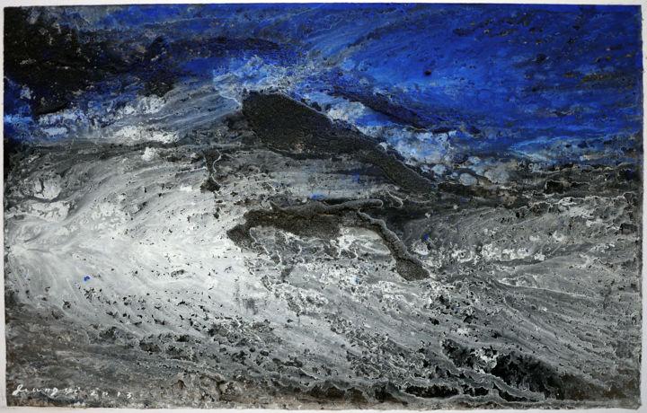 Collection the earth 大地系列II - Painting,  26x41 cm ©2013 by JIANG Yi  江屹 -                        World Culture