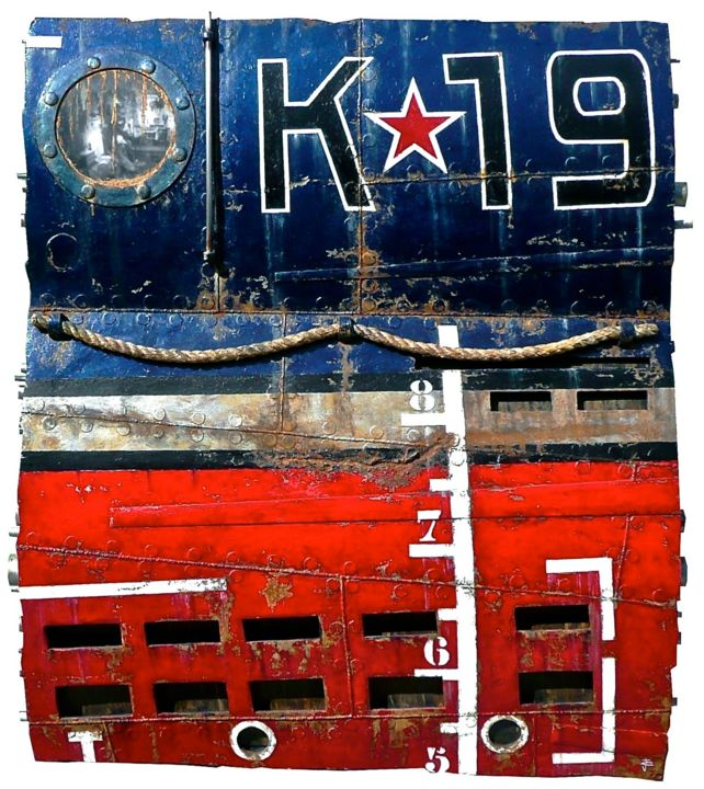 """Painting titled """"K19"""" by Jerome Chauvin (JICE), Original Art, Oil"""