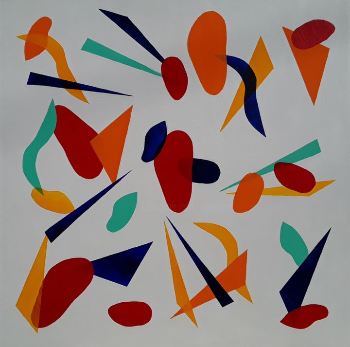 """Painting titled """"Abstract Forms No.5…"""" by Jim Richards, Original Art, Acrylic"""