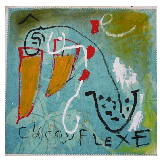 circonflexe - Painting,  40x40 cm ©2012 by Jean-Jacques Corriger -