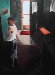 Boy from Palenque - Painting, ©2000 by J.K. Wilson -