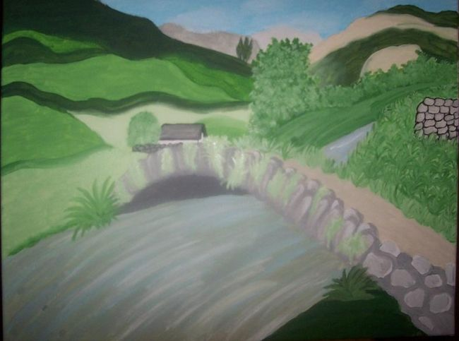 """Painting titled """"Cumbrian Rendezvous"""" by J.Leigh, Original Art,"""