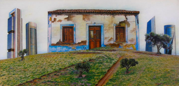 """Painting titled """"3-spain-urban-expan…"""" by Jacqueline Moses, Original Art,"""