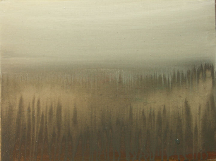 brume - © 2012 acrylic on canvas, nature, paysage Online Artworks