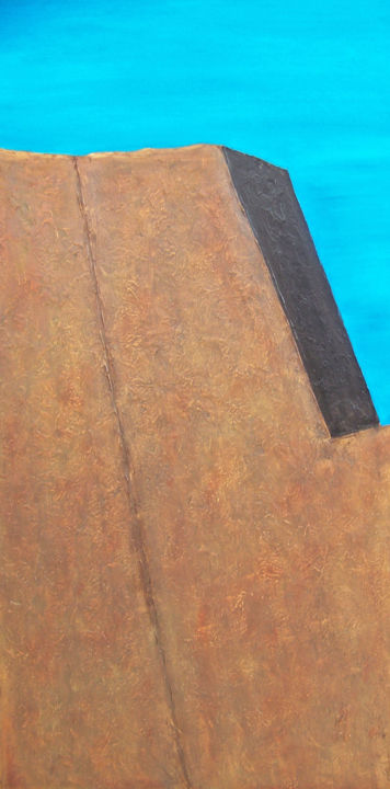 Adobe Dreams IV - Painting,  36x18x1.5 in ©2017 by jo moore -                                                                                                                                                            Abstract Art, Abstract Expressionism, Contemporary painting, Impressionism, Minimalism, Canvas, Abstract Art, Architecture, Landscape, Light, Spirituality, texture, impasto, southwest, adobe, architecture